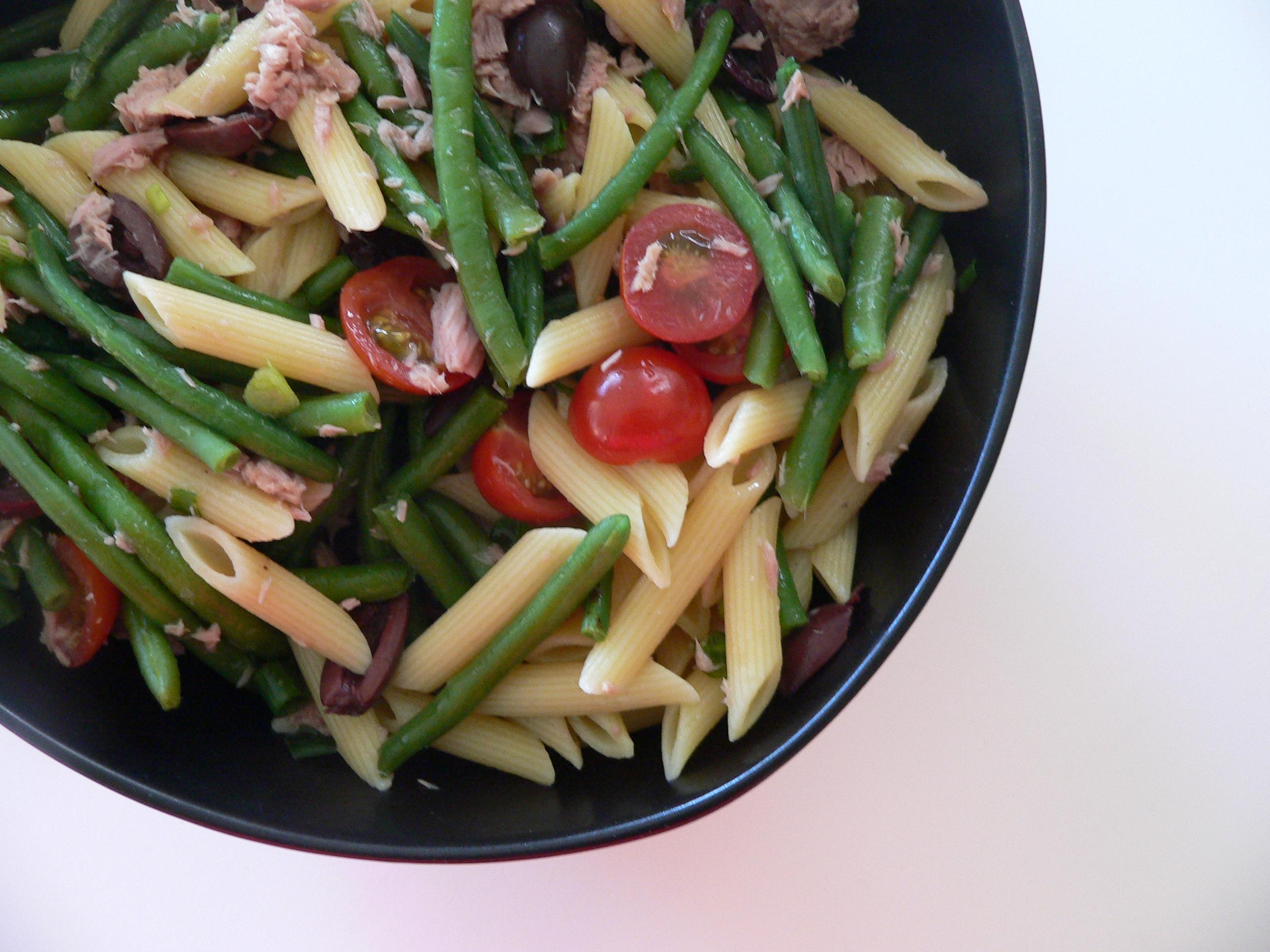 pastasalat med bønner