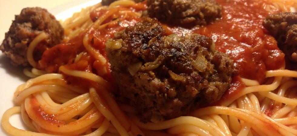 Spaghetti med citronkødboller